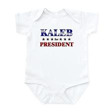 KALEB for president Infant Bodysuit
