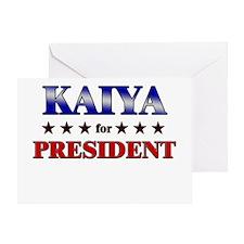 KAIYA for president Greeting Card