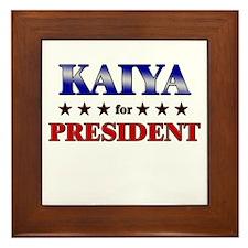 KAIYA for president Framed Tile