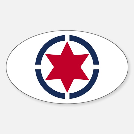 Star of David Shield Decal