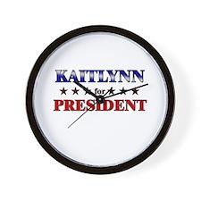 KAITLYNN for president Wall Clock