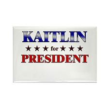 KAITLIN for president Rectangle Magnet (10 pack)