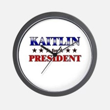 KAITLIN for president Wall Clock