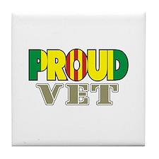 Proud Vietnam Veteran Vet Tile Coaster
