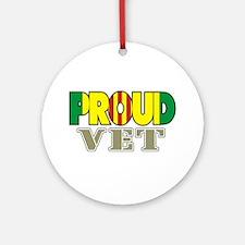 Proud Vietnam Veteran Vet Ornament (Round)