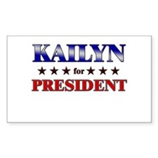 KAILYN for president Rectangle Decal