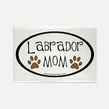 Labrador Mom Oval Rectangle Magnet
