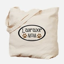 Labrador Mom Oval Tote Bag