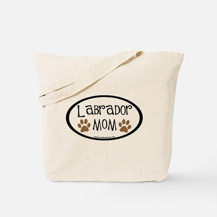 Labrador Mom Oval Tote Bag