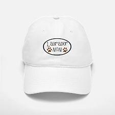 Labrador Mom Oval Baseball Baseball Cap