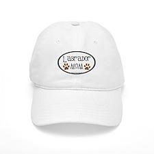 Labrador Mom Oval Baseball Cap