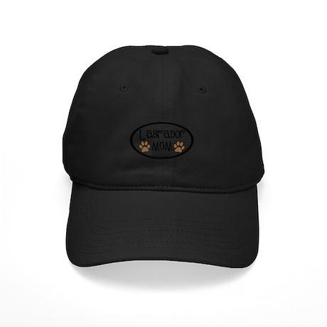 Labrador Mom Oval Black Cap