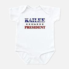 KAILEE for president Infant Bodysuit