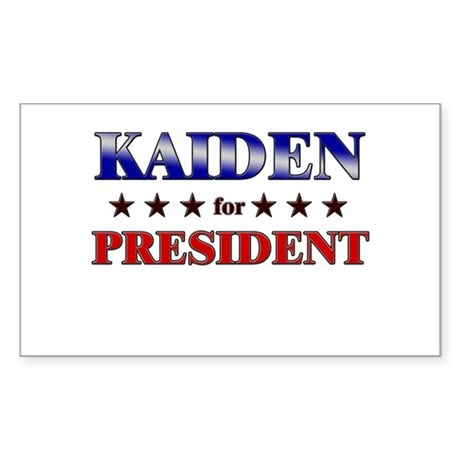KAIDEN for president Rectangle Sticker