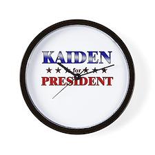 KAIDEN for president Wall Clock