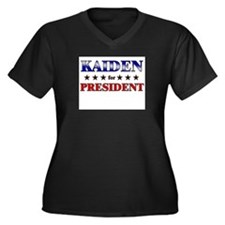 KAIDEN for president Women's Plus Size V-Neck Dark