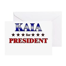KAIA for president Greeting Card