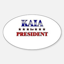 KAIA for president Oval Decal