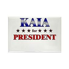 KAIA for president Rectangle Magnet