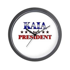 KAIA for president Wall Clock