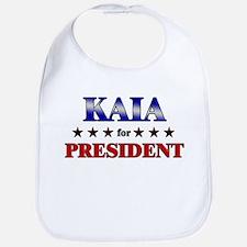 KAIA for president Bib