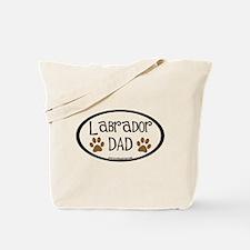 Labrador Dad Oval Tote Bag