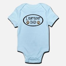 Labrador Dad Oval Infant Bodysuit