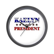 KAELYN for president Wall Clock