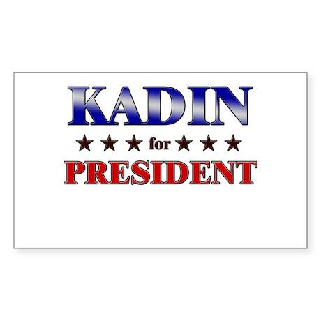 KADIN for president Rectangle Sticker