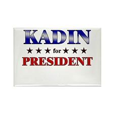 KADIN for president Rectangle Magnet