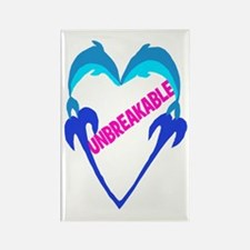 "Dolphin Heart ""Unbreakable"" 1 ~ Rectangle Magnet"