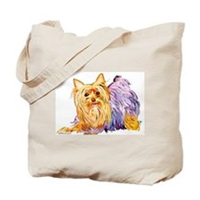 Playful Yorshire Terrier Tote Bag