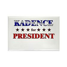 KADENCE for president Rectangle Magnet