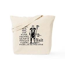 Lacrosse DUnit Checks Tote Bag