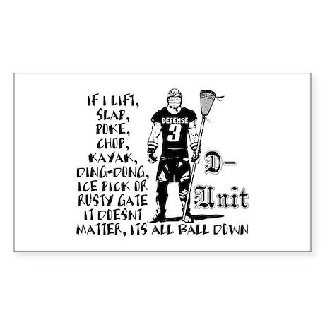 Lacrosse DUnit Checks Rectangle Sticker