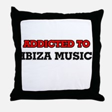 Addicted to Ibiza Music Throw Pillow