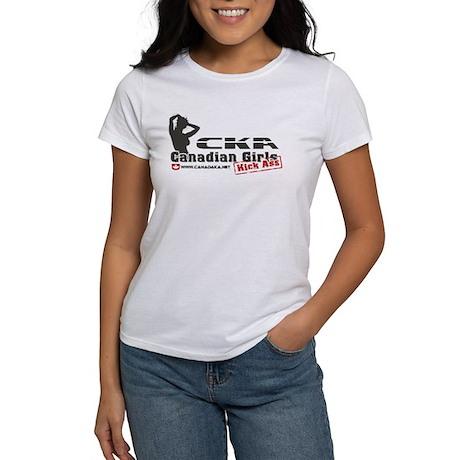 Canadian Girls Kick Ass CKA Women's T-Shirt