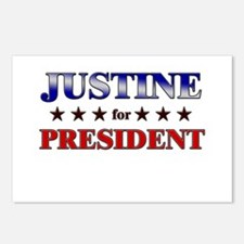 JUSTINE for president Postcards (Package of 8)