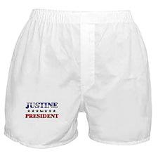 JUSTINE for president Boxer Shorts