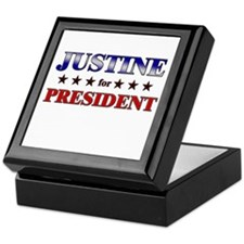 JUSTINE for president Keepsake Box