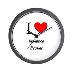I Love My Insurance Broker Wall Clock