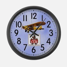Piper Cub Large Wall Clock