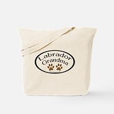 Labrador Grandma Oval Tote Bag