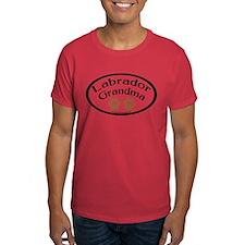 Labrador Grandma Oval T-Shirt