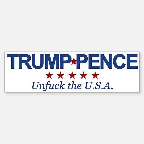 Trump Pence Unfuck the USA Sticker (Bumper)