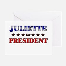 JULIETTE for president Greeting Card