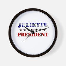 JULIETTE for president Wall Clock