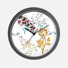 Joyful Garden Wall Clock