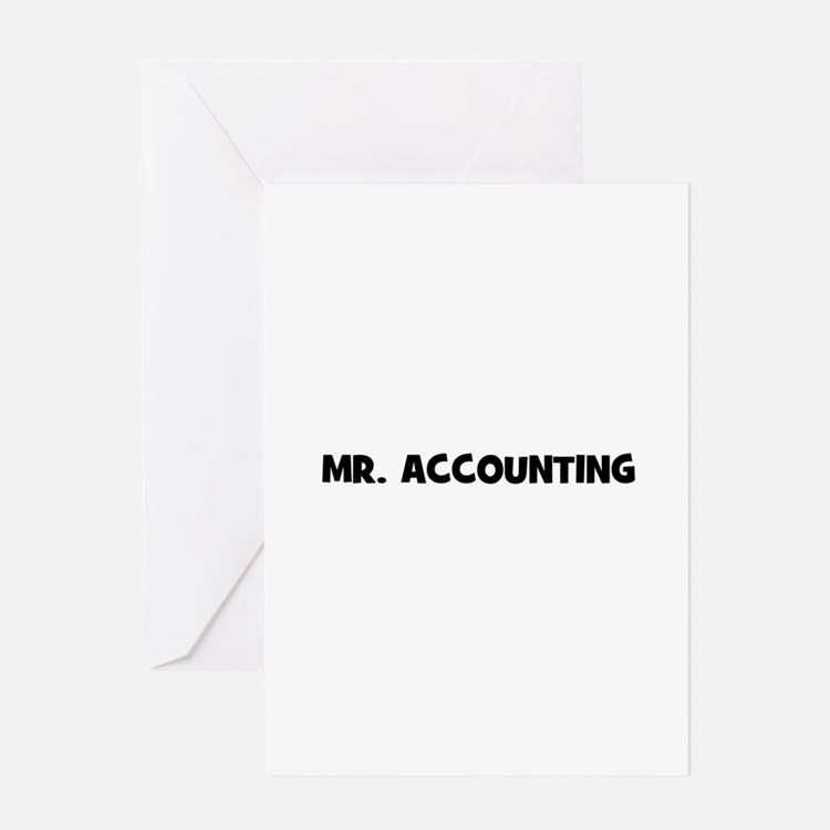 Mr. accountin Greeting Cards