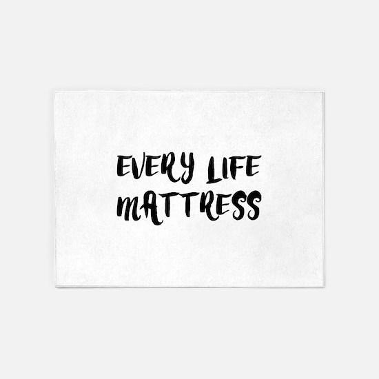 EVERY LIFE MATTRESS 5'x7'Area Rug